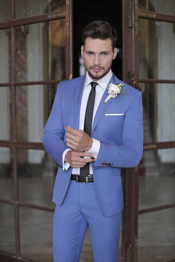 7dfaf593576af Niebieski garnitur na ślub - Ślub z WEDDING