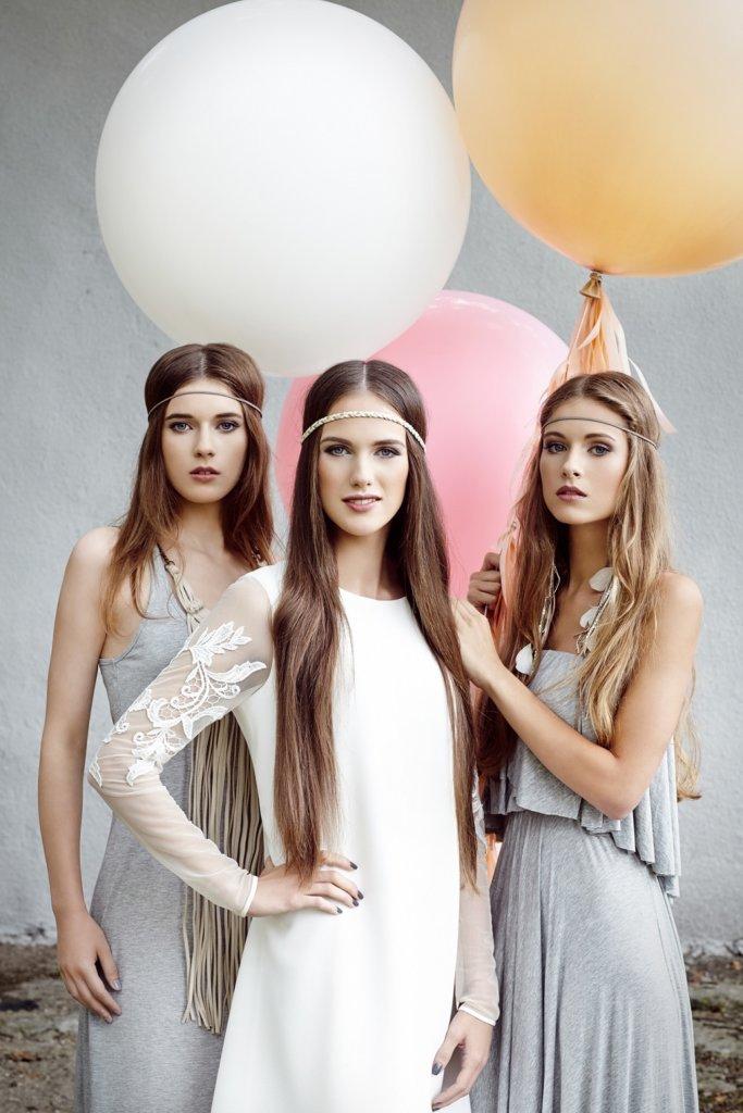 sukienka Rina Cossack, sukienka Natalia Jaroszewska, balony Poczta Balonowa