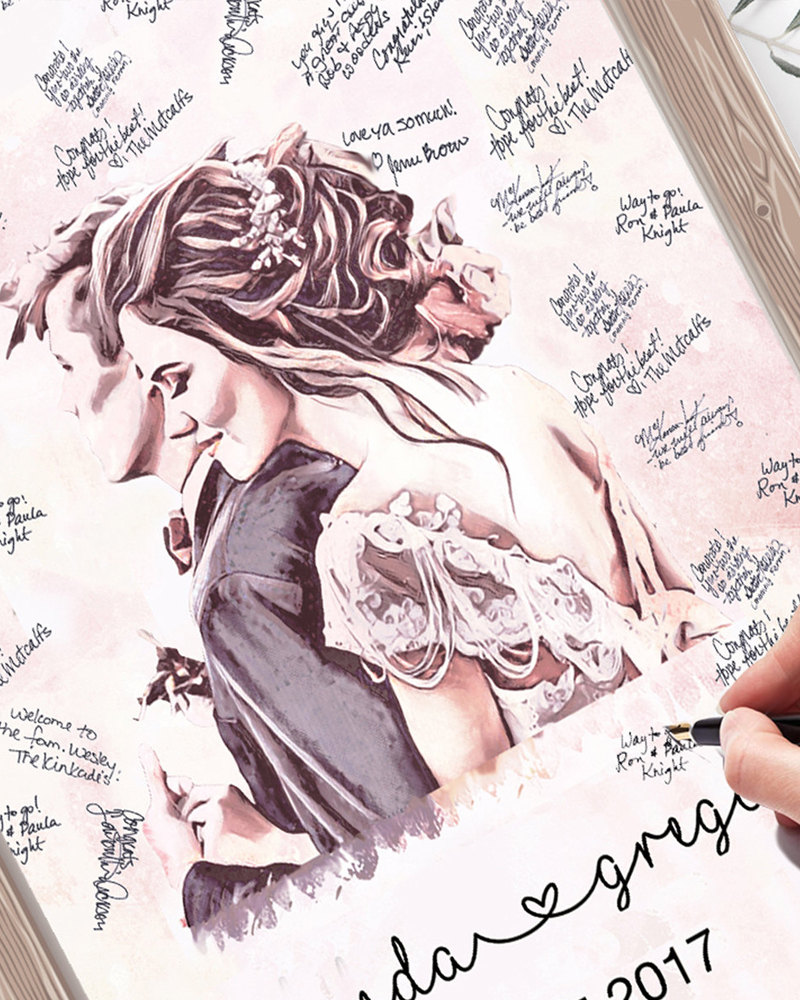 Personalized Art Guest Book